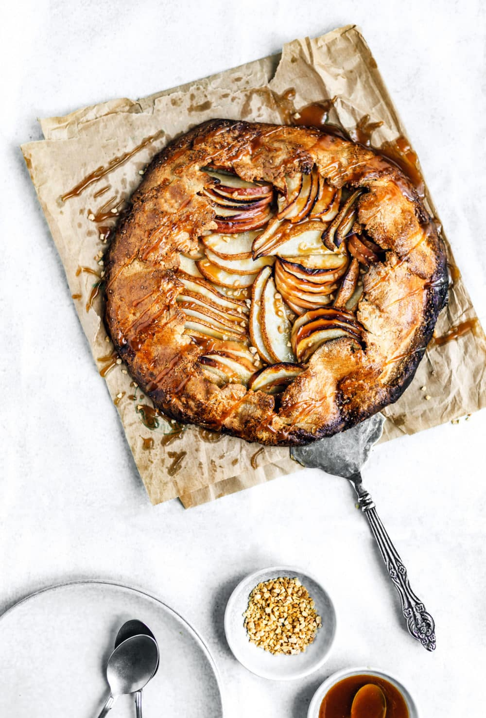 Rustic tart apple and pear