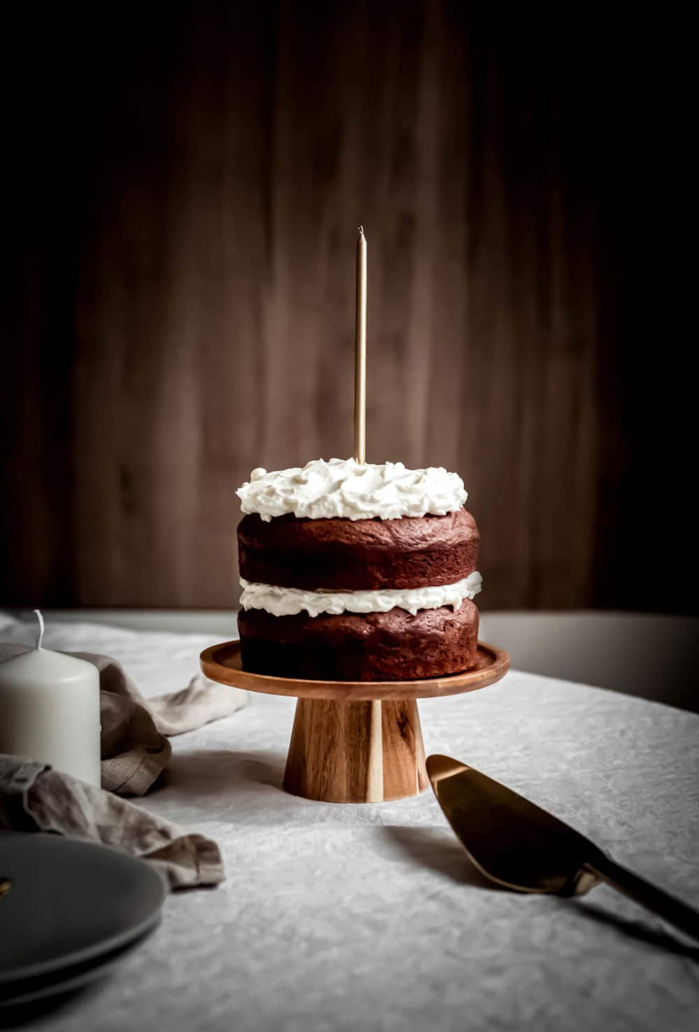 Layer cake brownie et crème mascarpone