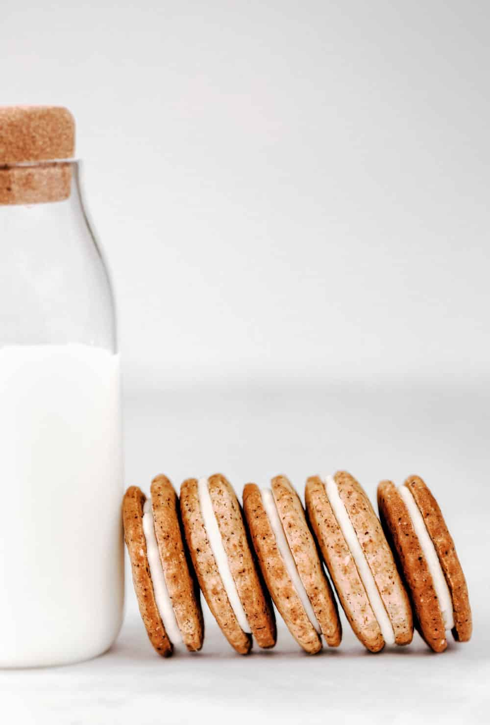White chocolate sandwich cookies