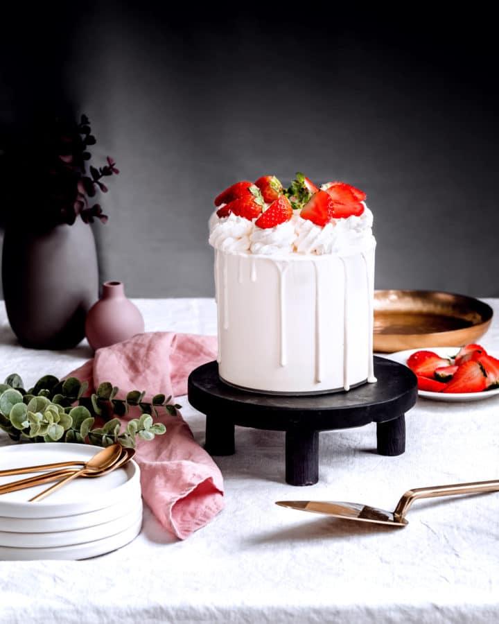 La recette du layer cake fraisier
