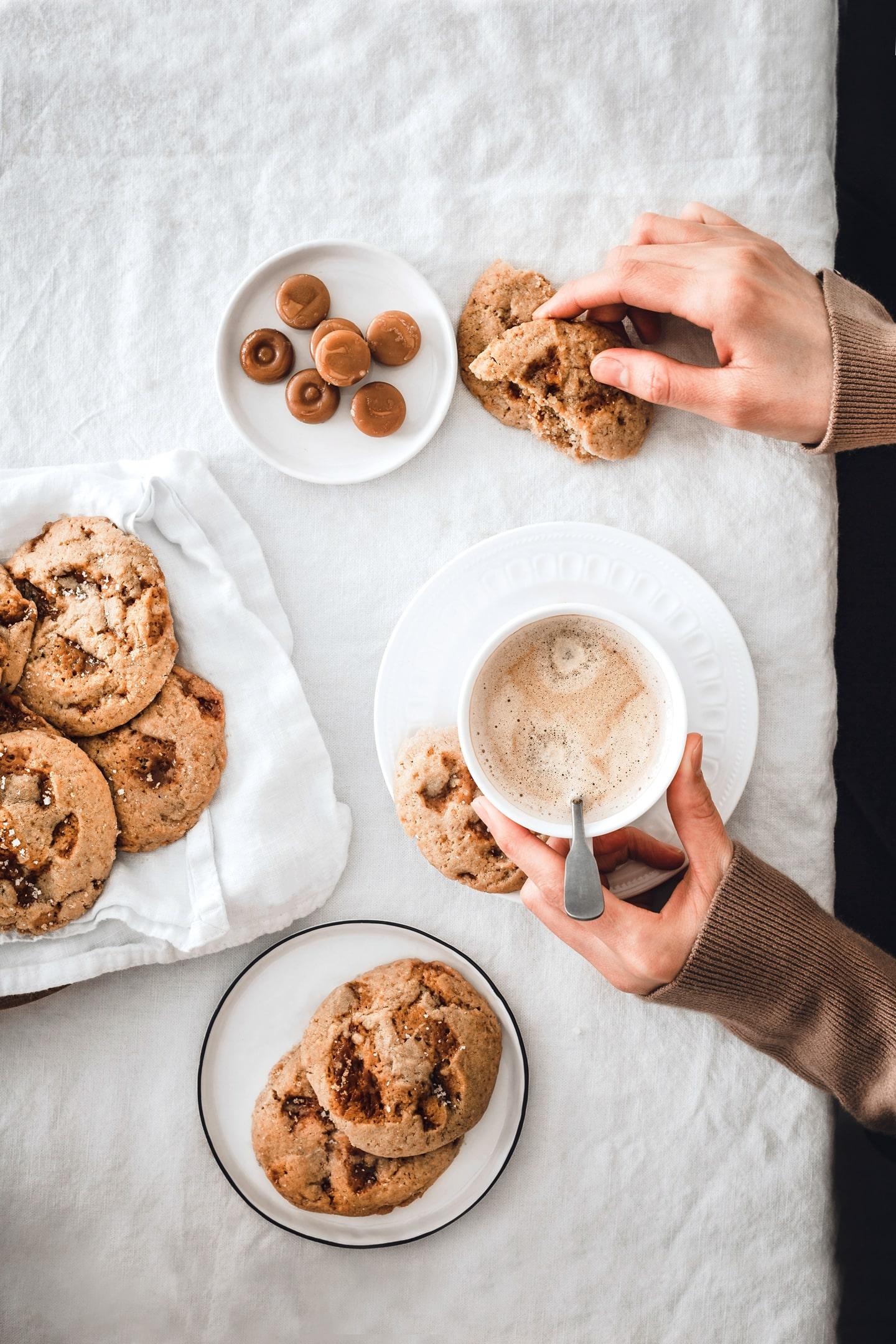 Les cookies aux éclats de caramels