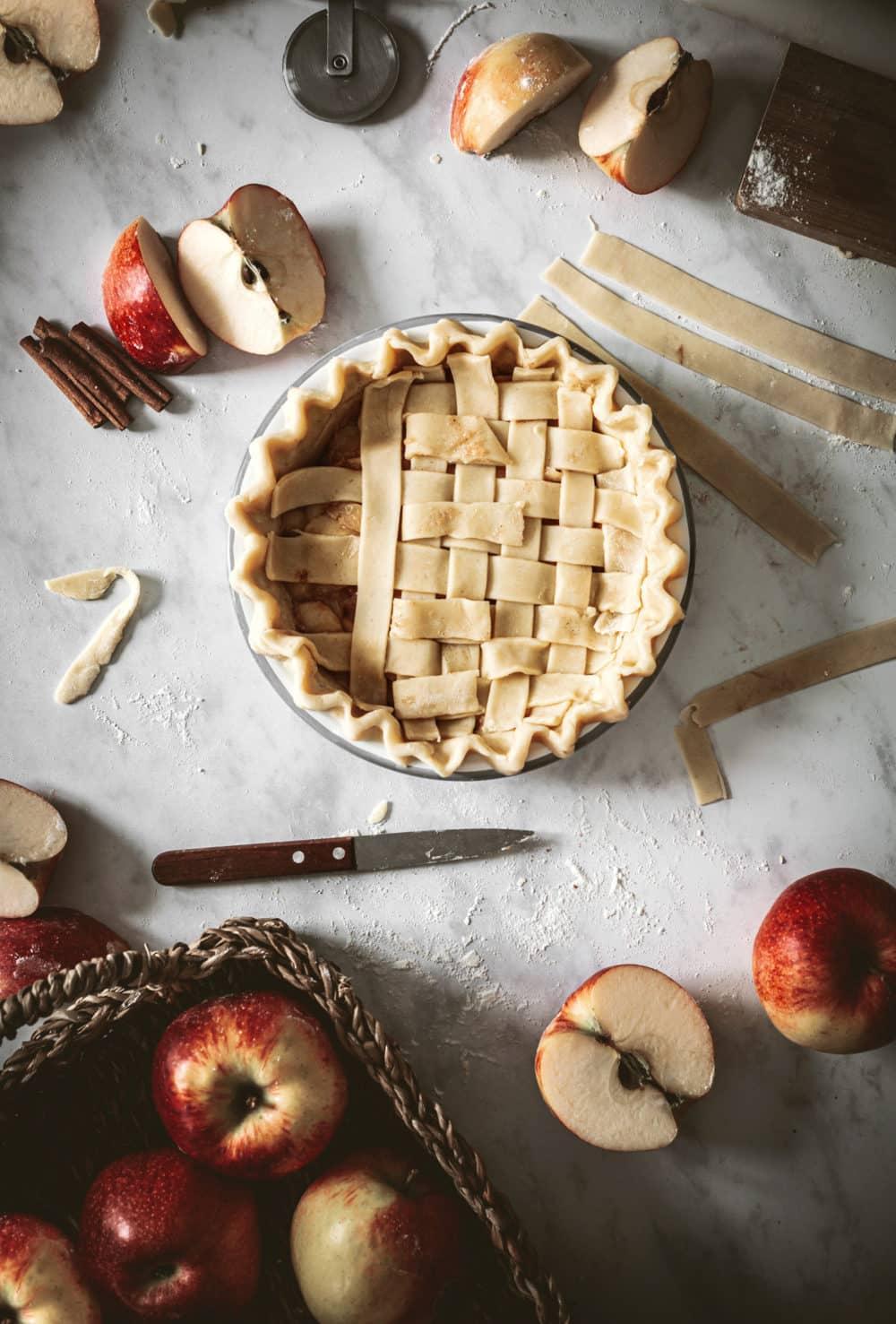 Lattice pie style decorating