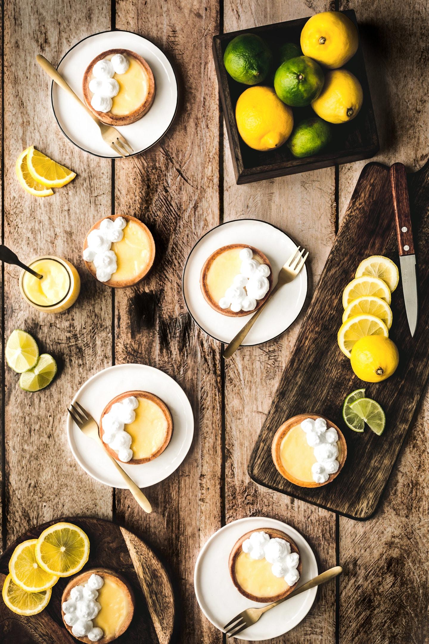 Tartelettes au curd au citron et meringue