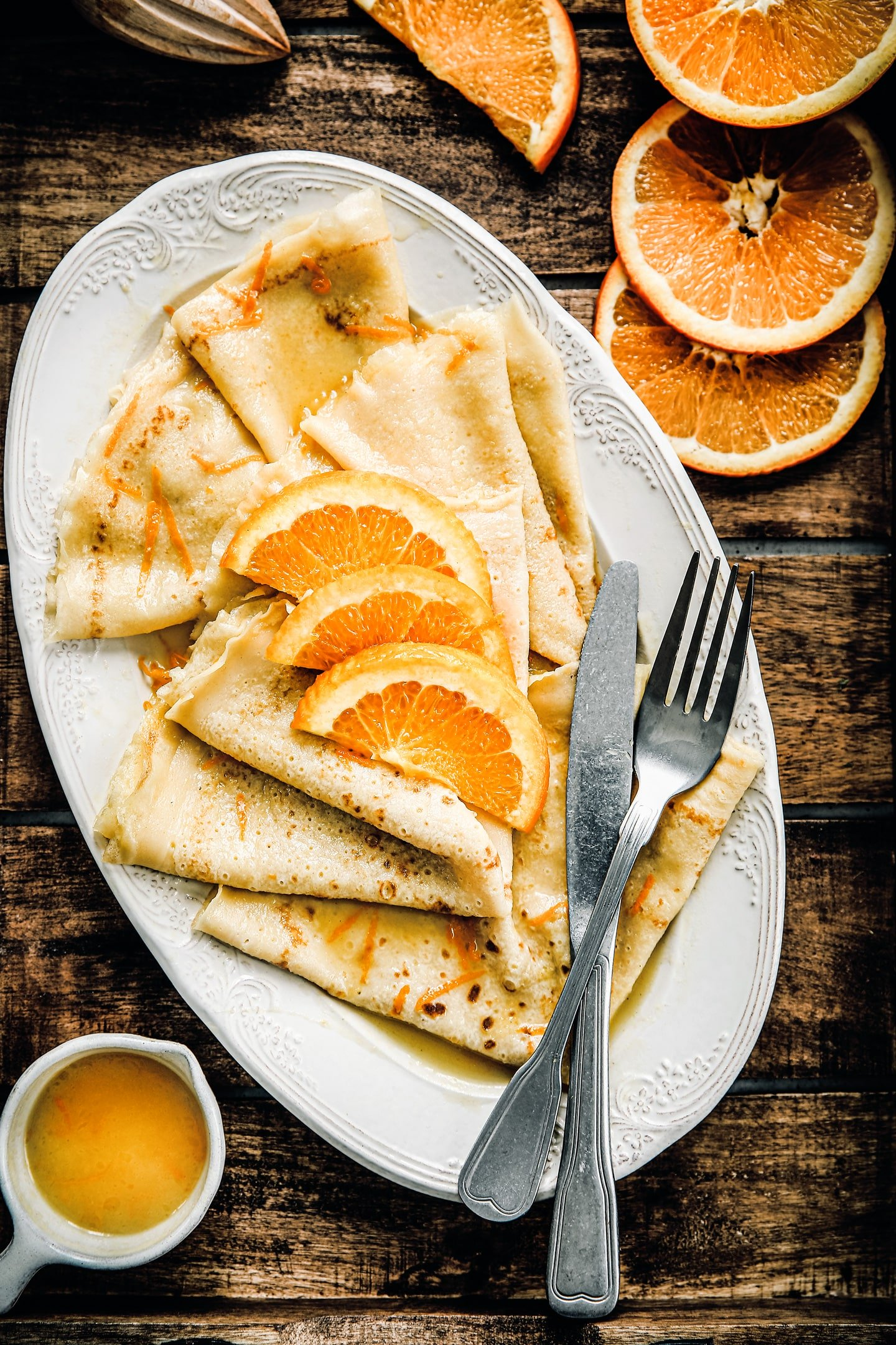 Recipe For Crepes Suzette Easy With Alcohol Free Orange Butter Sauce