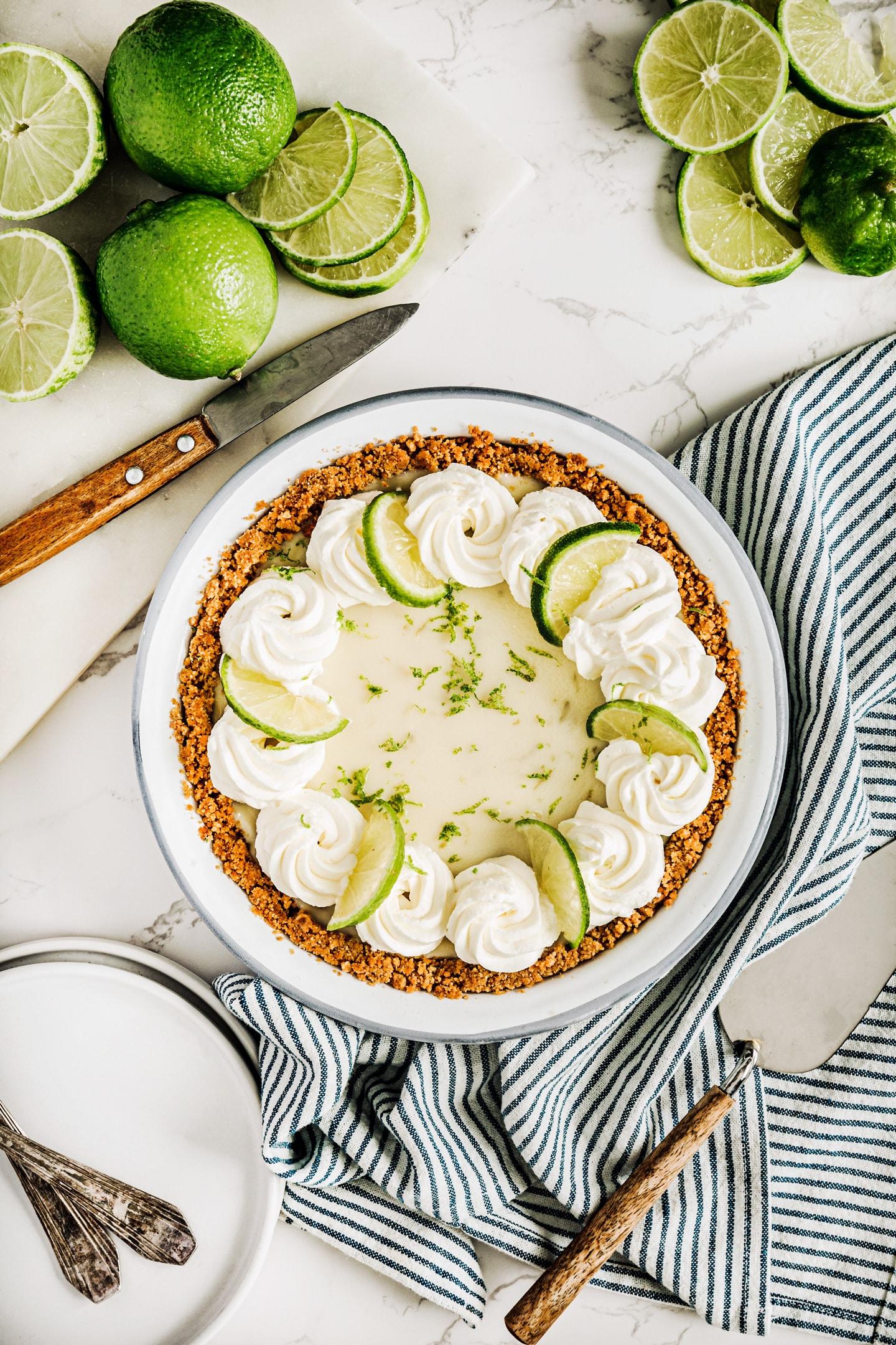 La tarte au citron vert la key lime pie